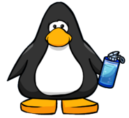 Blue Water Bottle from a Player Card