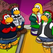 Penguin Band Background photo fr