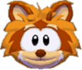 Orange raccoon 3d icon
