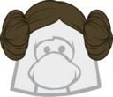 The Princess Leia icon