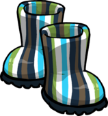 Blue Striped Rubber Boots clothing icon ID 6053