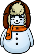 Orange Scarf Snowman furniture icon