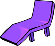 Purple Plastic Lawn Chair