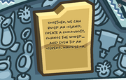 Waddle On Party Iceberg tipped plaque