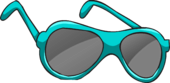 Real Teal Sunglasses clothing icon ID 2074