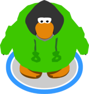 Green O'berry Hoodie in-game