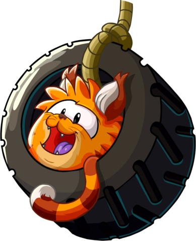 File:Orange Tabby Cat Puffle on Tire Swing.png