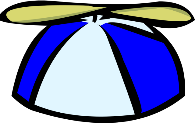 File:Blue propeller cap old icon.png
