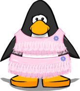 Giggle's Pink Outfit from a Player Card