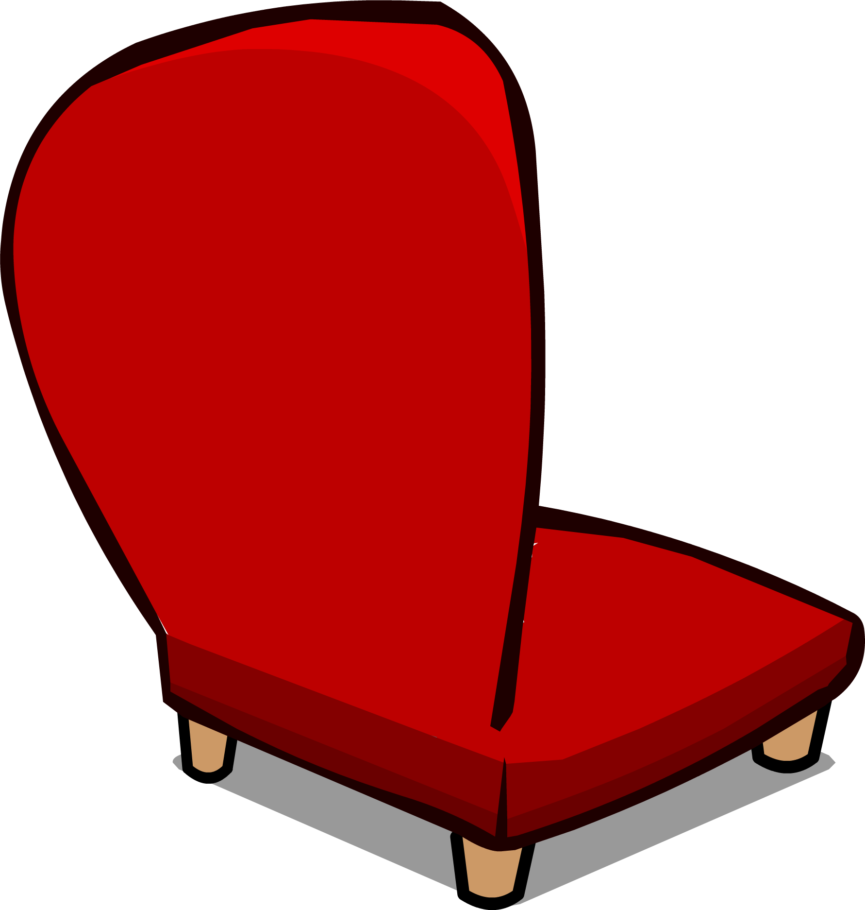 Image Red Plush Chair sprite 006
