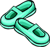 Sparkly Sea Foam Slippers icon
