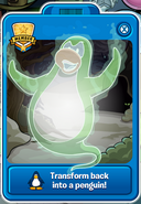 Green Ghost Player CArd