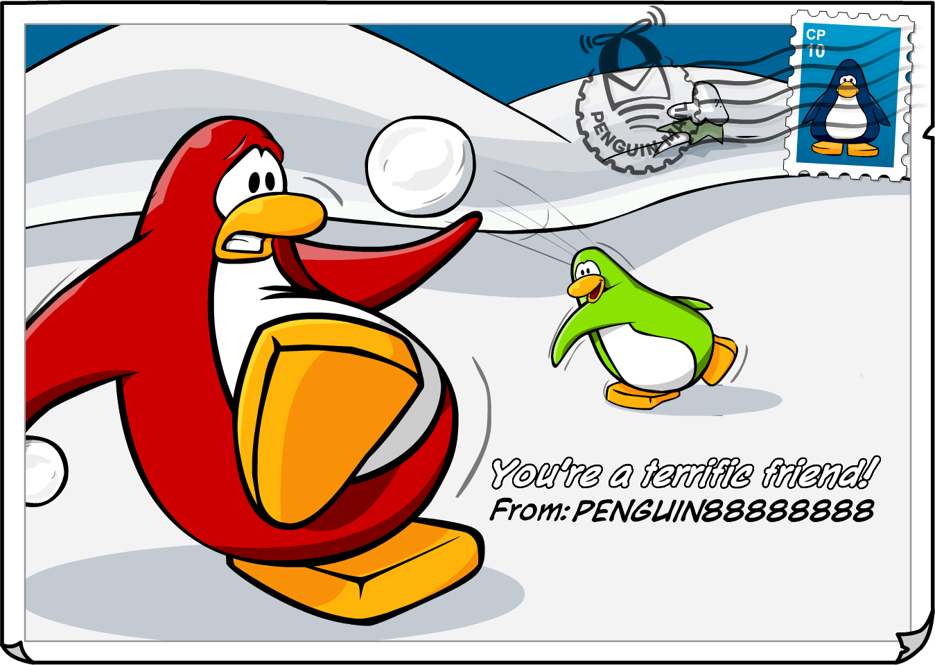 Show me more club penguin epf colouring pages - Postcards