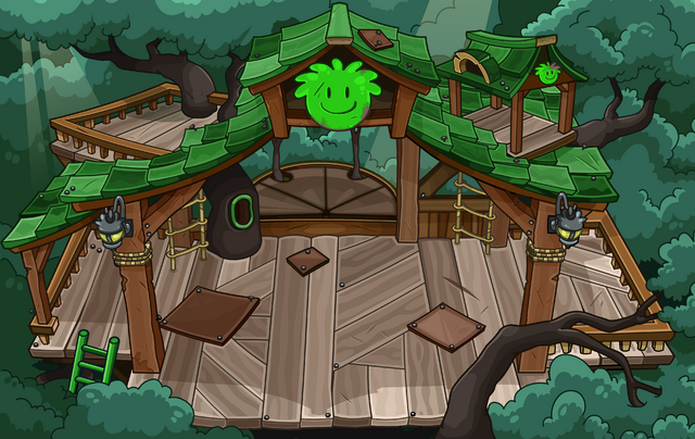 File:Green Puffle Tree House sprite.png
