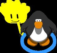 Yellow Puffle Balloon in-game