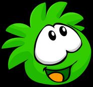 Green PuffleLookingUp