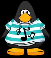 Pop-n-Lock Music Shirt from a Player Card