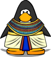 Pharaoh Costume on a Player Card