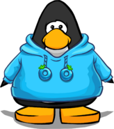 Blue O'berry Hoodie on a Player Card
