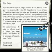 Letter from Aunt Arctic full award fr