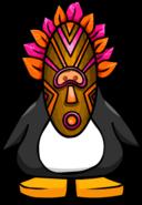 Tiki mask pink