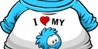I Heart My Blue Puffle T-Shirt