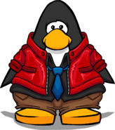 Red Stylin' Jacket from a Player Card