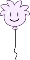 White Puffle Balloon icon