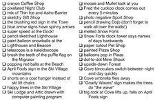 April Fools 2008 Party Checklist