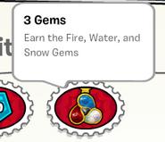 3 gems stamp book