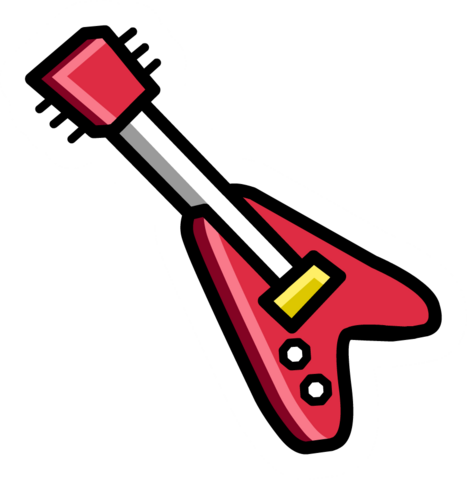 File:Red Electric Guitar pin.png
