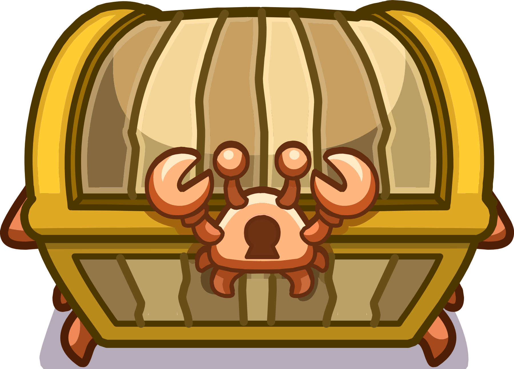 image crab treasure chest emote png club penguin wiki fandom