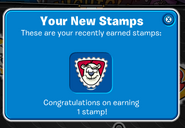 Earning Herbert stamp in my Stampbook
