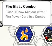 Fire blast combo stamp book