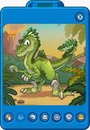GreenRaptorTransformationPlayerCard