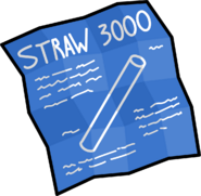 Straw 3000 blue
