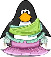 Pearl Mermaid Costume on a Player Card
