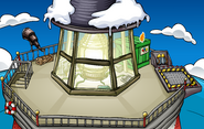 Puffle Party 2010 construction Beacon