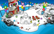 Puffle Party 2009 Beach