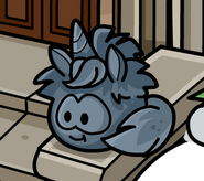 Unicorn Puffle statue Muppets World Tour