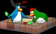 Treasure Hunt postcard penguins