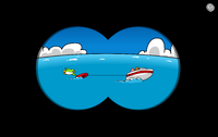 Boat Passing By - Binoculars