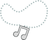 Platinum Note Necklace icon
