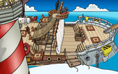 Rockhopper's Quest Migrator docked at Beach