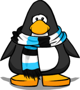 Blue Striped Scarf (3035) on a Player Card