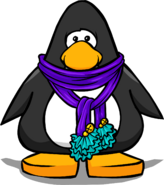 Pom pom scarf player card