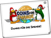 Coins For Change Card full award de