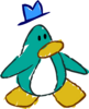 Doodle Dimension penguin Aqua hat