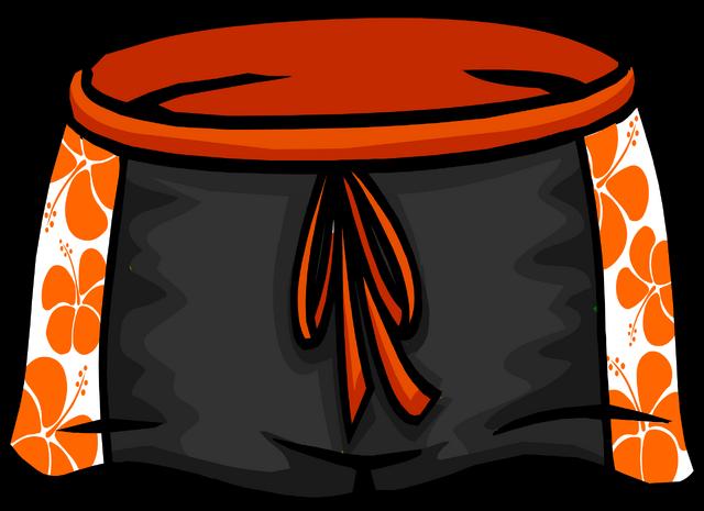 File:Black Hawaiian Shorts icon ID 4096.png