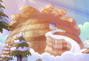 Puffle Mountain as seen from Puffle Wild home screen